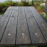 Vecināta koka dizains galdam