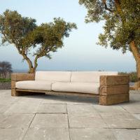 Dīvāns ar koka rāmi